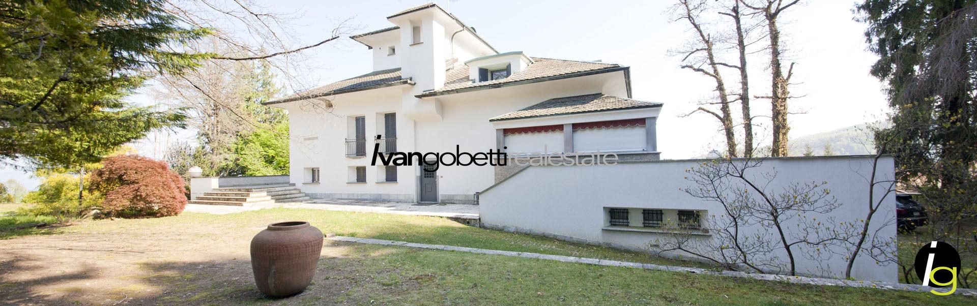 Prestigiosa villa sul Lago Maggiore con parco e vista panoramica