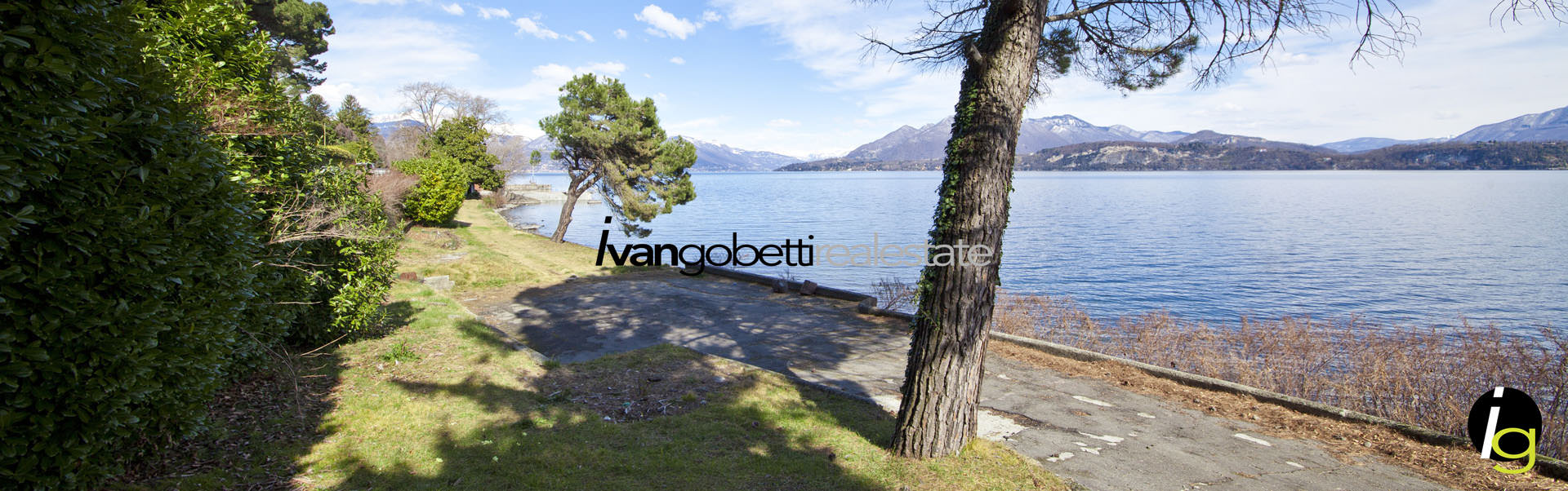 Villa con piscina e spiaggia privata sul Lago Maggiore
