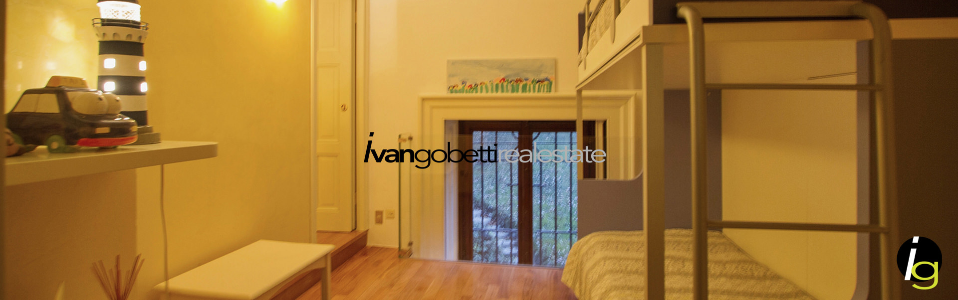 Como Lake, Griante beautiful apartment for sale in charming Villa