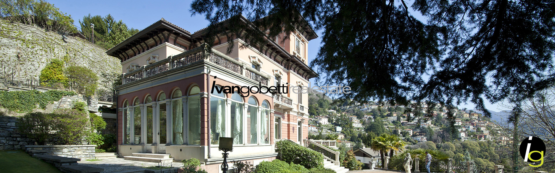 For sale prestigious art nouveau villa with park and lake view in Cernobbio &nbsp; &nbsp; &nbsp; &nbsp;<span>Product code : 15185<br/>For sale prestigious art nouveau villa with park and lake view in Cernobbio. Property dating from the early twentieth century, was finely restored and finished &nbsp;[...]
