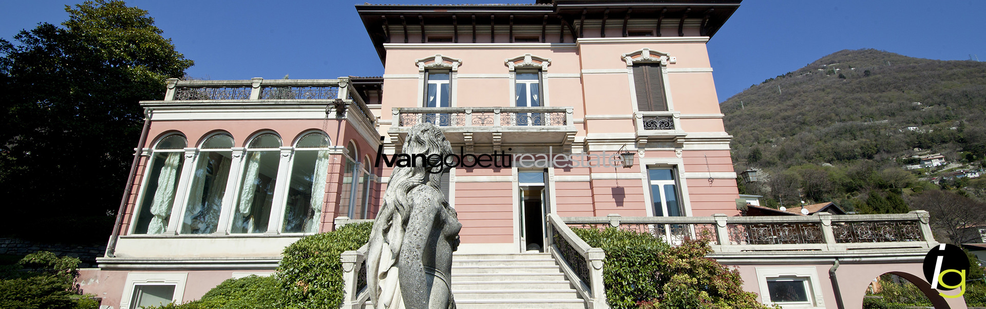 For sale prestigious villa with park and lake view in Cernobbio<br/><span>Product Code: 15185