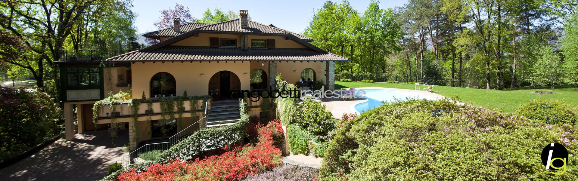 Luino, Lago Maggiore Lussuosa Villa in vendita con parco botanico e piscina