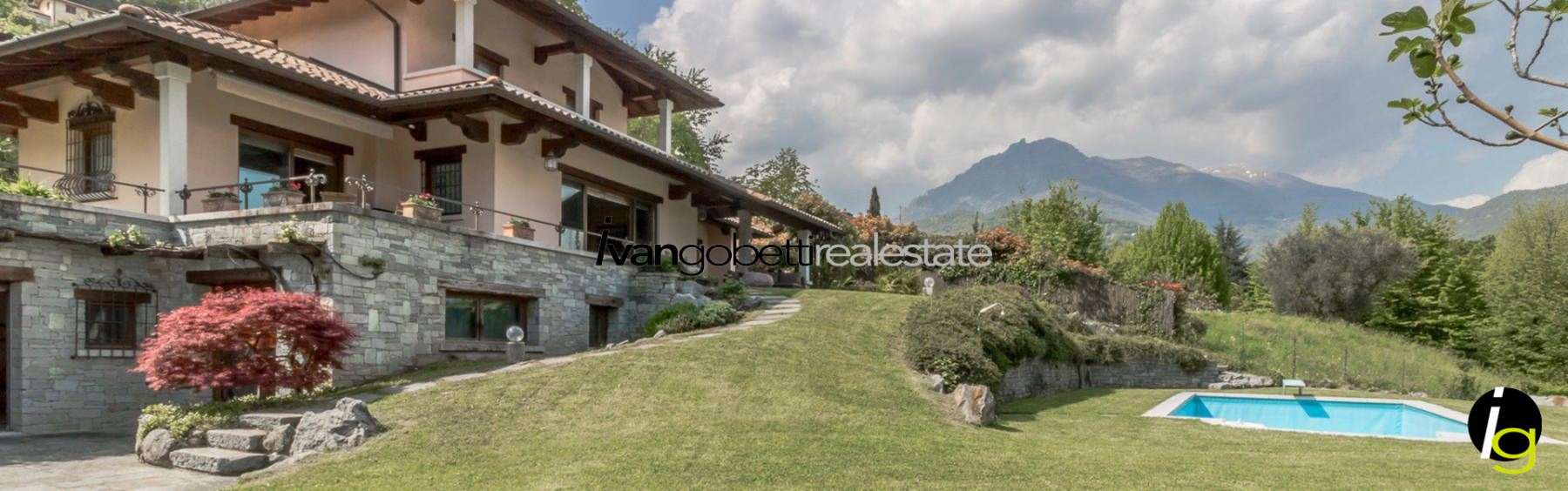 Lago di Como, Menaggio villa con piscina e vista lago in vendita