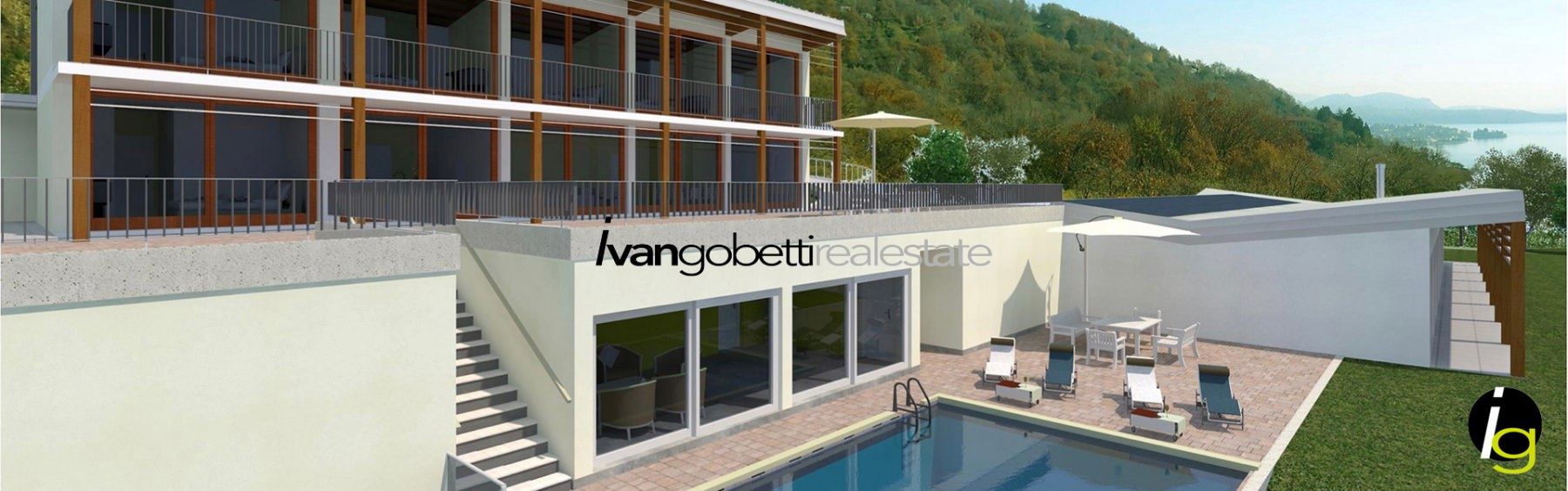 Maggiore Lake, beautiful property for sale with fantastic view