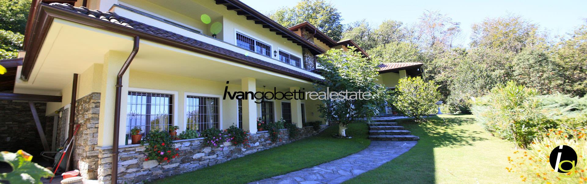 Vendesi prestigiosa villa con parco immersa nel verde a Stresa sul Lago Maggiore Italia