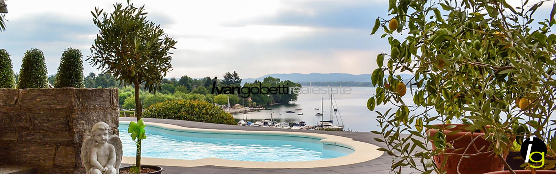 Озеро Маджоре, Леза, Италия, продаётся вилла на первой линии озера