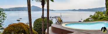 Lake Maggiore, Lesa, Italy, modern water front villa for sale