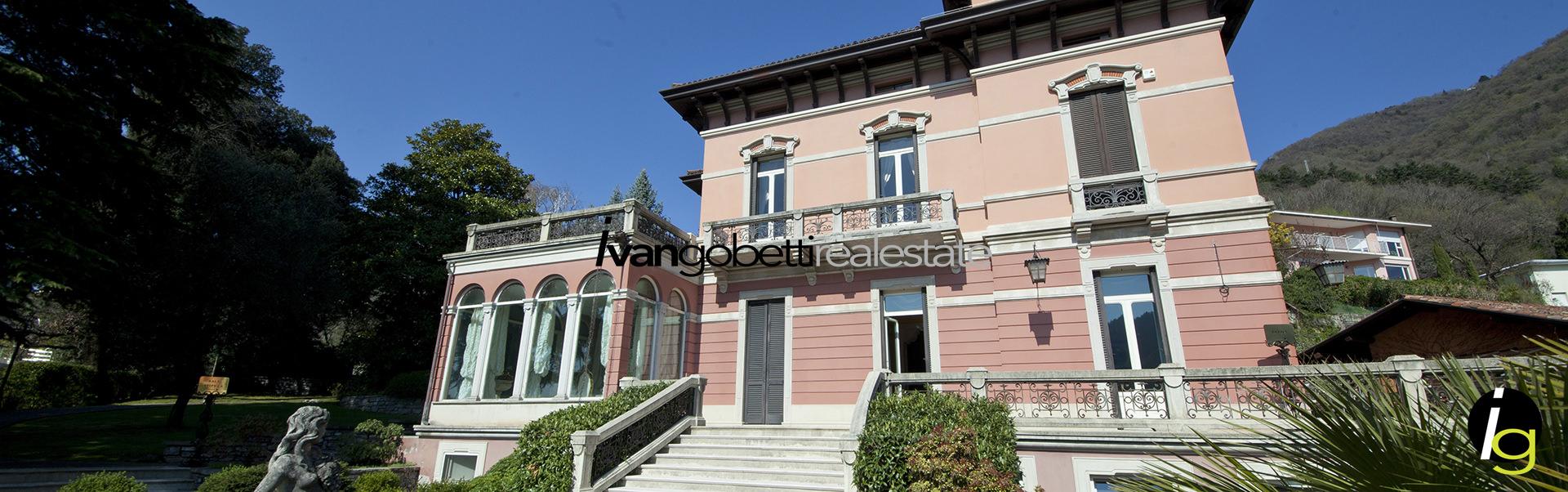 Vendesi prestigiosa villa liberty con parco e vista lago a Cernobbio