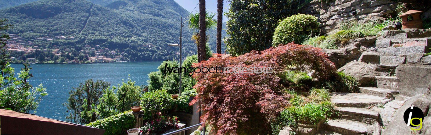 Lago di Como Moltrasio, villetta con vista lago in vendita