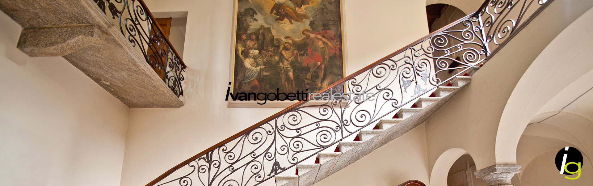 Wonderful Villa of the 900 with park on Lake Como Griante