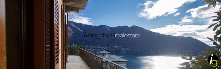 Lake Como, Cernobbio, Villa for sale with lake view.