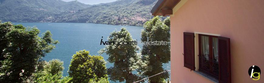 Lake Como Moltrasio, villa with lake view for sale